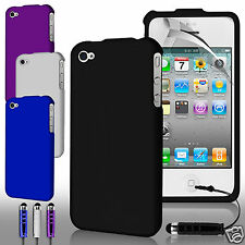 Hard Hybrid Full Body Case Cover, Screen Guard & Stylus Pen for Apple Iphone 4S