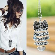 Fashion Women Vintage Pendant Necklace Retro Owl Sweater Long Chain Lady New