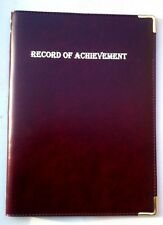 (TWO PU LEATHERETTE) TOP QUALITITY RECORD OF ACHIEVEMENT FOLDER