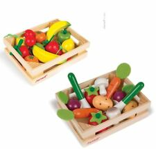 Janod Wooden Play Food Crate Fruit and Vegetables 4y+