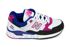 New Balance Women's W530PSA '90s Running Leather' in White/Black/Carnival Pink