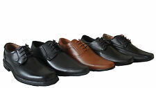 New Mens boys school Smart office Formal work faux leather Lace Up Casual Shoes