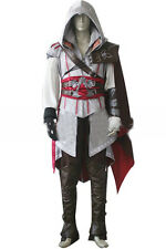 Assassins Creed II 2 Ezio Auditore Clothes Outfit Set Coat Cloak Cosplay Costume