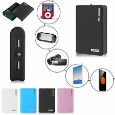Portable 12000mAh Power Bank Dual USB  Charger Dock Box Case For 4x18650 Battery