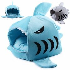 Cute Cozy Shark Mouth House Shelter Bed for Small Dog, Puppy, Cat and Kitten
