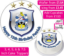 HUDDERSFIELD FOOTBALL TEAM EDIBLE WAFER & ICING PERSONALISED CAKE TOPPER CLUB FC