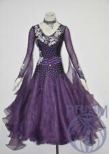 Women Ballroom Competition Dance Gown Waltz Tango Standard Dance Dress #3129