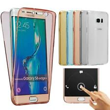 Shockproof 360° Silicone Protective Soft Clear Case Cover for Samsung S7 S7 Edge