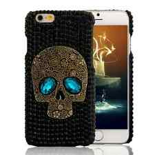 Crystal Skull Skeleton Hard Silicone Phone Case Cover Skin For iPhone 6S Plus 5S