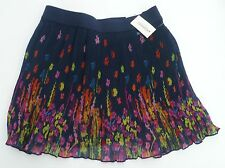 Womens AEROPOSTALE Bright Floral Pleated Woven Skirt NWT #2341