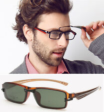 Men Sport New TR90 Eyeglass Frame Sunglass Driving Glasses with clips