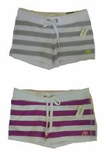 Womens AEROPOSTALE A87 Stripe Shorty Shorts NWT #9848