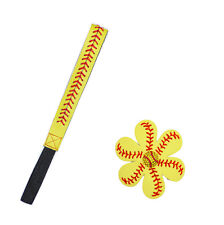 1 Set Softball Baseball Leather Headbands Leather Hair Flowers Fast Pitch