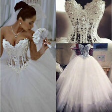 2016 new lot white/ivory wedding dress dress prom ball gown size:6-8-10-12-14-16