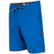 Volcom Men's Lido Solid Mod 20 Inch 4-Way Stretch Boardshorts - SS16: Est Blue