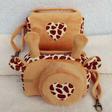 Deer Plush Soft Digital Camera Bag Pouch+Strap For Sony Canon Nikon DSLR SLR