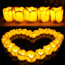LED Dripping Wax Flickering Candle Tea Light Tealights Mood Effect Wedding Party