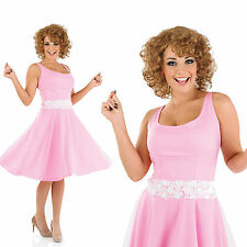 Ladies Pink Baby Fancy Dress Costume Dirty Dancing 80S Outfit UK 8-30