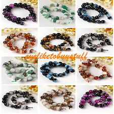 12-14MM Crystal Agate Round Faceted Ball Gems Loose Bead Jewelry DIY Finding EY