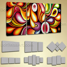 Original Abstract Painitng On Canvas Giclee Print Huge Wall Art Flow Colorful