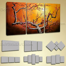 Large Stretched Canvas Giclee Print Plum Blossom Tree Abstract Landscape Picture
