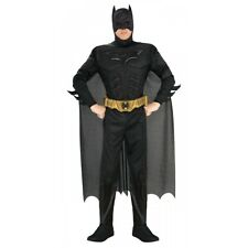 Dlx Muscle Chest Batman Costume Adult Dark Knight Rises Halloween Fancy Dress