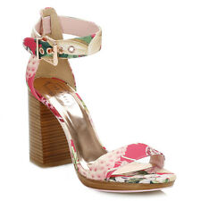 Ted Baker Womens Floral Lorno High Heel Sandals Ankle Strap Heels Summer Ladies