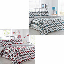 Chevron Duvet Pillowcase Bedding Quilt Cover Single Double King Bedding Bed Set