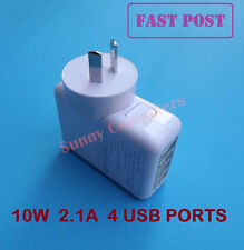 4 USB Ports AC Wall Charger Adapter for iPhone iPad Air Mini 5 4 3 iPod 10W 2.1A