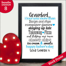 Grandad I Love You More Than Personalised Fathers Day Gifts Presents Gramps Dad