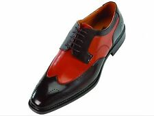 Men's Dress Shoes Bolano,wingtip,Oxford smooth,Black/Red new with Box