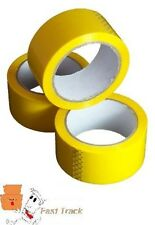 YELLOW COLOURED Packing Parcel Tape 50mmx66m  *FREE PP*