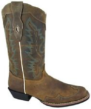 NEW! Ladies Smoky Mountain Boots - Western Cowboy Boot  Brown Leather Square Toe
