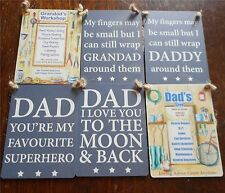 Vintage Retro Shabby Chic Mini Metal Plaque Hanging Sign 9x6.5cm Dad Fathers Day