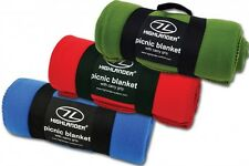 LARGE LIGHTWEIGHT FLEECE BLANKET with CARRY HANDLE rug travel picnic car