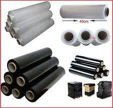 PALLET SHRINK STRONG STRETCH CLING FILM STANDARD 400MM X250M BLACK/CLEAR WRAP