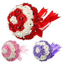 New 1 Pcs Wedding Flowers Bouquet Package for Bride Bridesmaid Posy Flowergirls