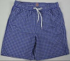 Merona Men's Blue White Plaid Swim Trunks size M  XL & XXL