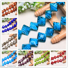 10pcs 17mm Rhombus Lampwork Glass Jewelry Findings Loose Spacer Beads Charms