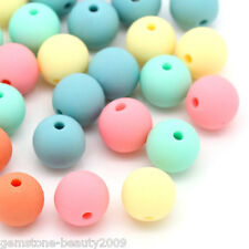 Wholesale DIY Jewelry Acrylic Spacer Beads Round Candy Color Mixed 9mmx10mm