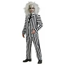 Beetlejuice Costume Adult Mens 80s Movie Funny Ghost Halloween Fancy Dress