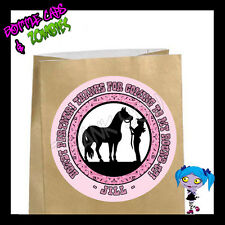 Cowgirl Birthday Party Favor Goody Bag STICKERS - Personalized Labels