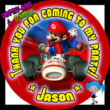 Super Mario Kart RED Birthday Party Favor Goody Bag STICKERS - Personalized Loot