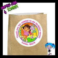 Dora Explorer Birthday Party Favor Goody Bag STICKERS - Personalized Loot Bag