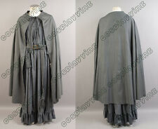 Lord of The Rings Fellowship Ring Gandalf Grey/Gray Costume Cosplay Robe Cloak