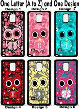 For Samsung Galaxy Note 4 Cute Owl Flowers G1 Personalized Monogram Phone Case