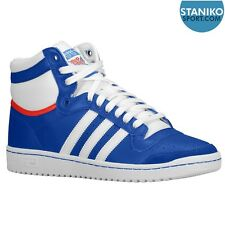 Mens ADIDAS TOP TEN HI Blue Leather Trainers M20716 £72