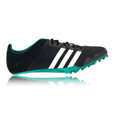 Adidas Adizero Finesse Mens Green Blue Running Spikes Track Sports Shoes