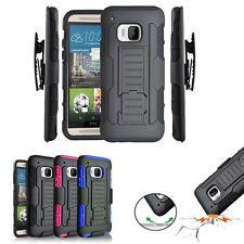 Hybrid ShockProof Rugged Holster Belt Clip Stand Hard Case Cover For HTC One M9