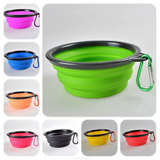 2016 New Arrival! Collapsible Silicone Travel Pets Dog Cat Dish Water Food Bowl